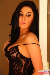 Hot Vixen Babe Danielle In Black Lace Lingerie