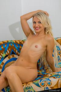 Amateur Blonde Svetlana Neery Strips Red Lingerie