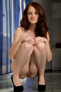 Shy Cute Girl Alice May Shows Her Naked Body
