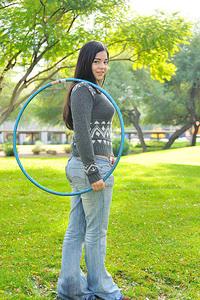 Nadine hula hoops