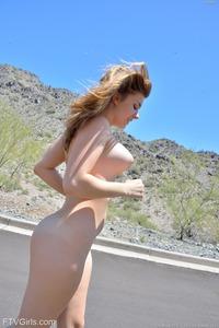 Big Boobed Teen Lindsey Walking Nude