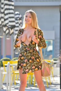 Hot Skinny Model Riley In Sexy Small Dress