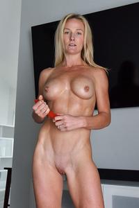 Blonde Milf Sydney With Toys