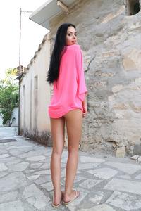 Skinny Brunette Venice Lei Naked