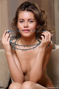 Skinny Brunette Danielle Totally Nude