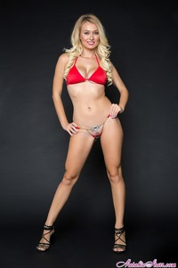 Natalia Starr In Red Bikini