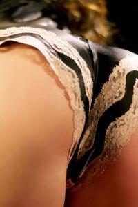 Melissa Jacobs Strips Her Black Lingerie