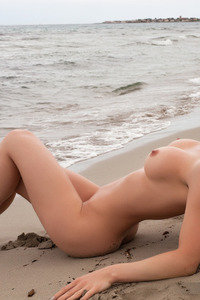 Victoria Angel Posing On The Beach