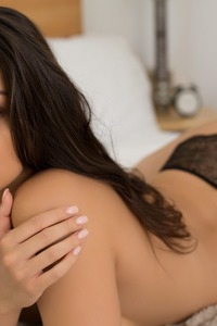 Brunette Model Kelsi Shay Stripping Her Lingerie