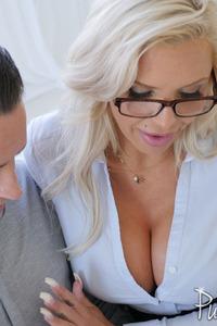 Huge Tits Milf Nina Elle Making Blowjob Hot