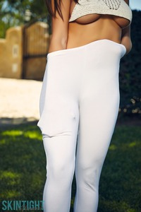 Brook Wright In White Leggings
