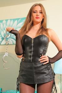 Mistress Danielle In Leather Corset