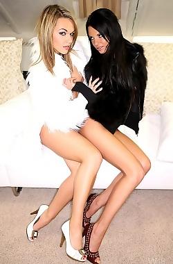 Monicca And Frida Hot Lesbians