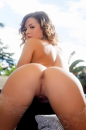Keisha Grey Relaxes On Her Couch