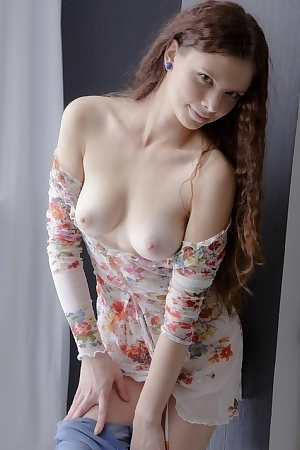 Horny Teen Rubs Her Shaved Pussy