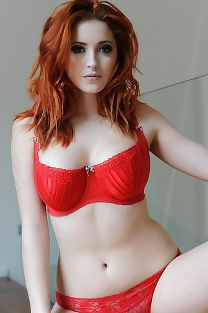 Busty Red Head Lucy Vixen