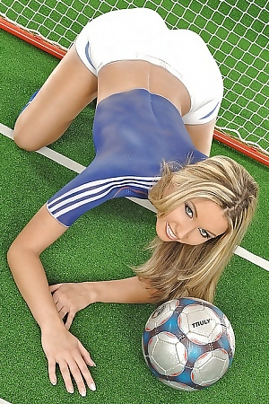 Pretty And Playful Cherry Jul In Soccer Uniform