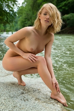 Flawless Blonde Teen Girl Gabi By The River Free Sex Pictures