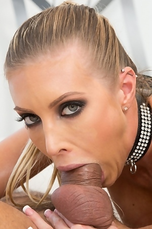 Samantha Saint In Sexy Leather Lingerie