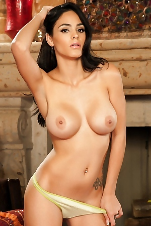 Jasmine Caro Showing Her Massive Breasts