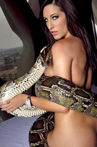 Kortney Kane Likes Big Snakes