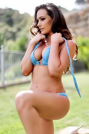 Anastasia Harris Stays In Blue Bikini