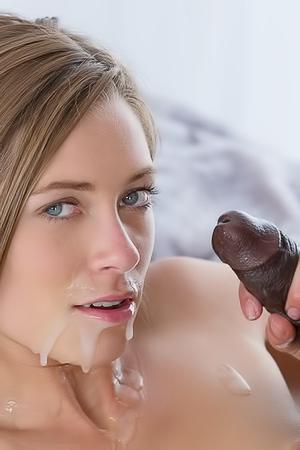 Fit Brunette Girl Loves Black Dick
