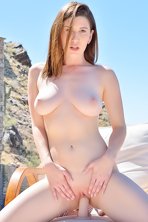 Busty Amateur Amber Showing Her Pink