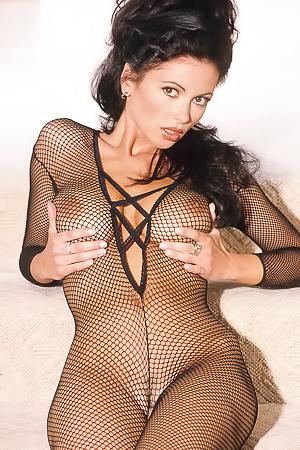 Veronika Zemanova Hot In Fishnets Ready For Fuck