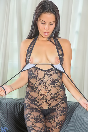Dana Vega In See-through Lingerie