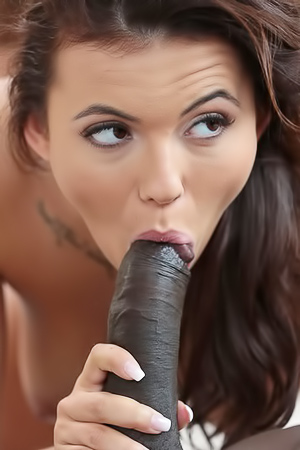 Vanessa Decker Squats On A Hard Black Cock