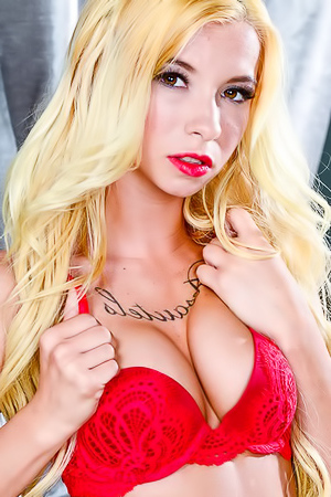 Blond Kenzie Reeves With Perky Boobs