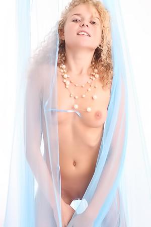 Little Blonde Angel Olima Stripping