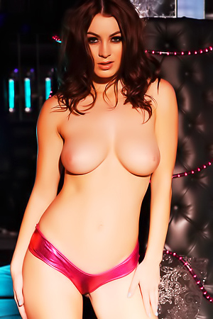 Summer In Her Pink PVC Lingerie