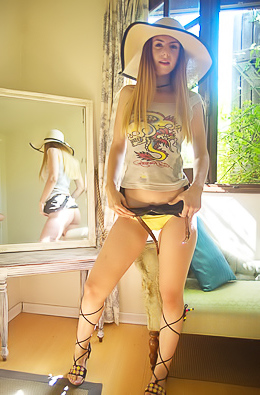 Stella Cox In Sexy Yellow Lingerie