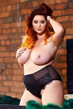 Lucy V In Black Lingerie