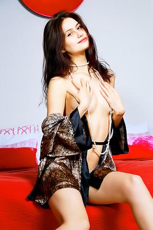 Pale skinned beauty Megan Elle
