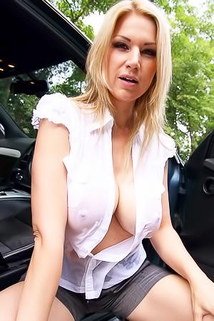 Carol Goldnerova with Fake Tits