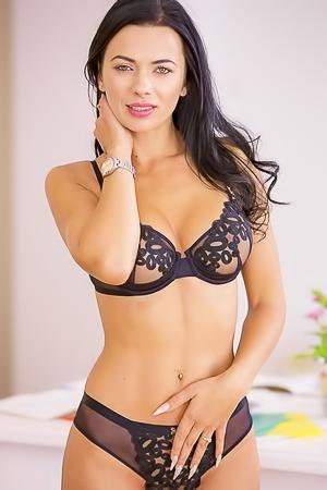 Busty Romanian Pornstar Shalina Levine Nude