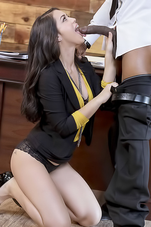 Alina Lopez In Hot Lingerie Fucks With Black Man