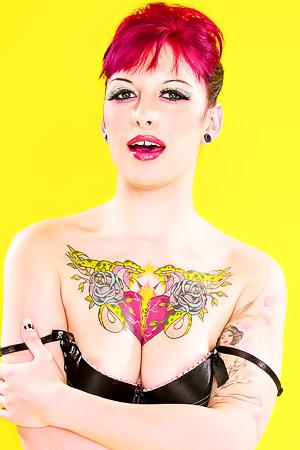 Redhead Tattooed Pornstar Jessie Lee
